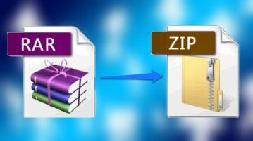 5 Free Websites To Convert RAR to ZIP feat