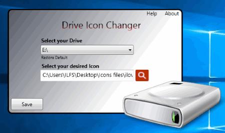Drive Icon Changer- interface