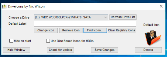 DriveIcons interface