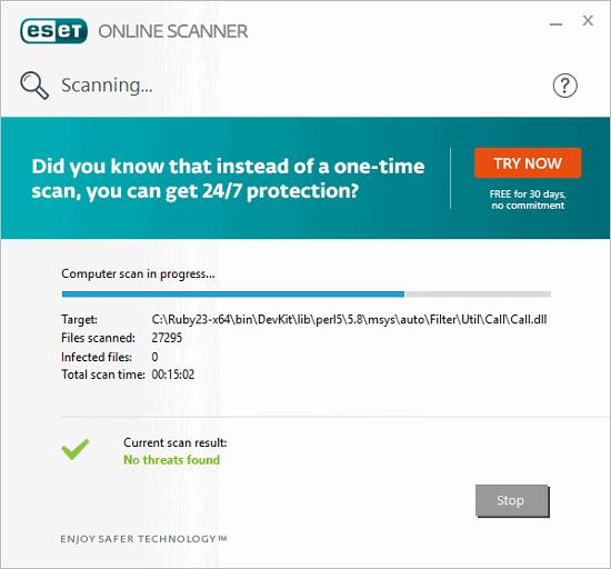 Eset online virus scan