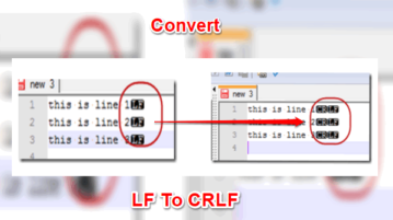 How To Convert LF Line Endings to CRLF Line Endings feat