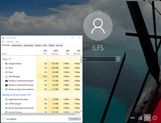 How To Open Task Manager On Login Screen In Windows 10