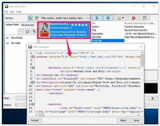 Jeboorker Metadata Edit