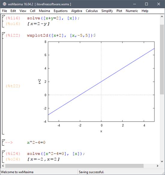 Maxima solving complex liner equations