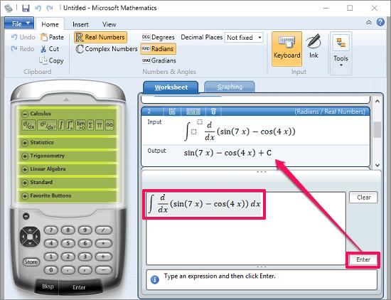 Microsoft_Mathematics solving complex equations