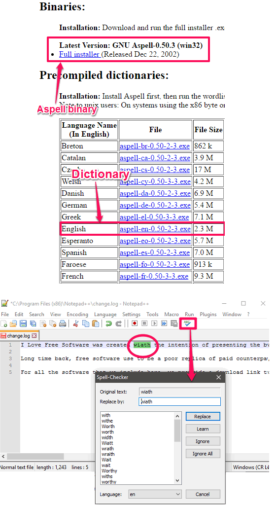 Notepad ++ finding mistakes