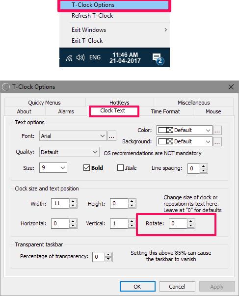 T-Clock_options_rotate option