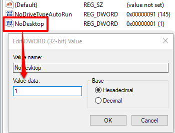 add 1 in value data of nodesktop