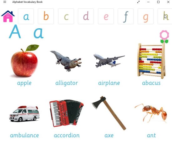 letter a vocabulary words preschool windows 10 vocabulary app for with words images sounds 13014