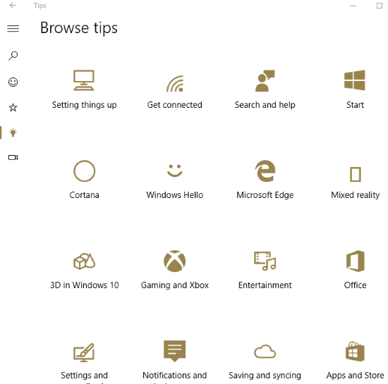 browse tips