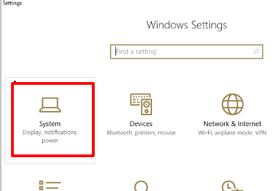 click system menu