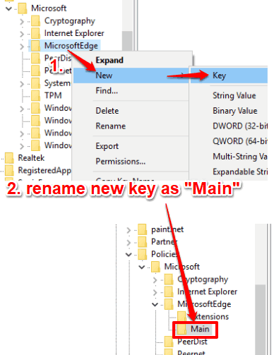 create main key