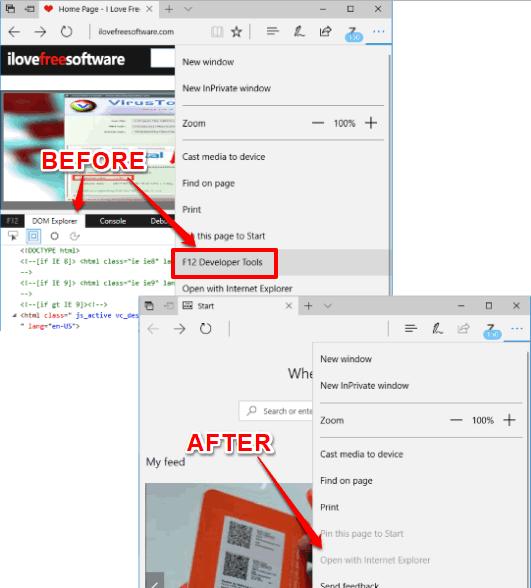 developer tools disabled in microsoft edge