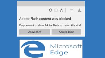 disable adobe flash in micrsosoft edge