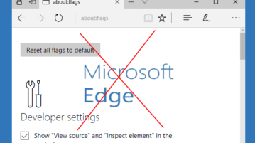 disable flags page of microsoft edge