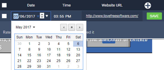 edit scheduled date and time of web pages