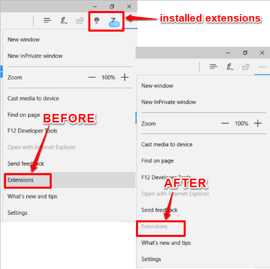 extensions blocked in microsoft edge