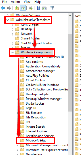 go to microsoft edge folder