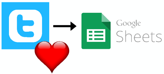 how to export liked tweets to googlr sheets