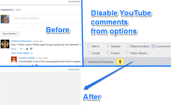 how to hide youtube comments in opera- magic actions for youtube