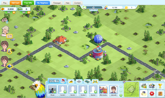 city building facebook games: landlord