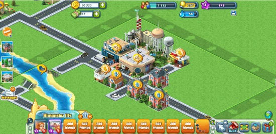 city building facebook games- megapolis