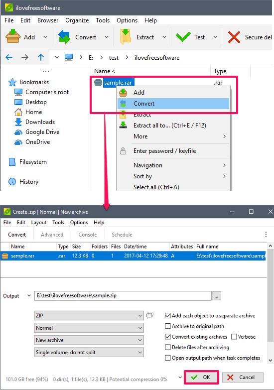 5 Free RAR To ZIP Converter Software For Windows