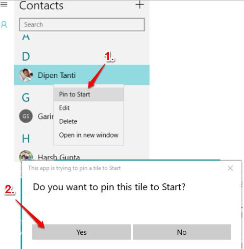 pin contact option