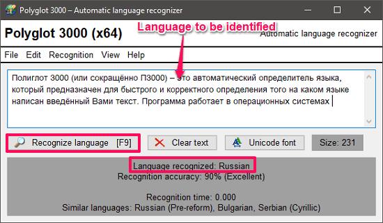 polyglot 3000 language identifier