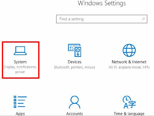 select system menu