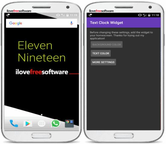 5 free text clock apps for android