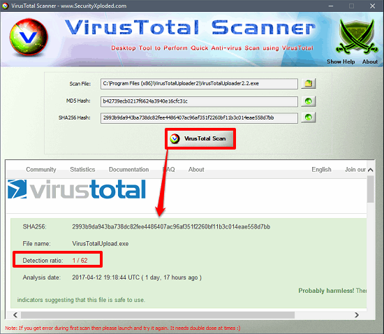 Best Free Anti Malware Software With VirusTotal File Analysis Feature