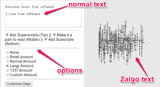 6 Free Online Zalgo Text Generator