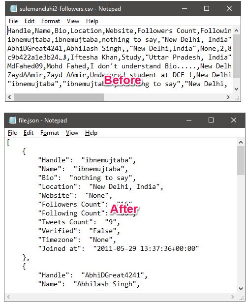 5 Free CSV To JSON Converter For Windows