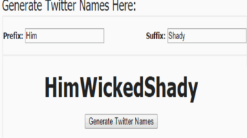 5 free online twitter username generators