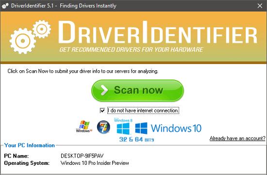 Driver identifier interface