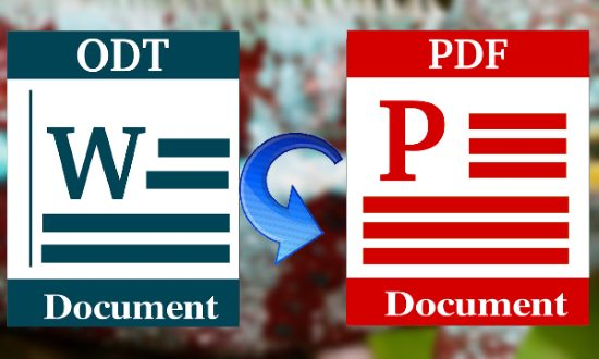 Free ODT to PDF Converter Software, Convert OpenOffice Docs to PDF