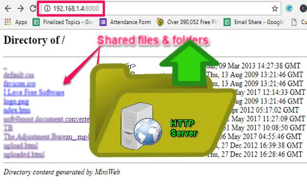 How to Setup an HTTP Server For File Sharing