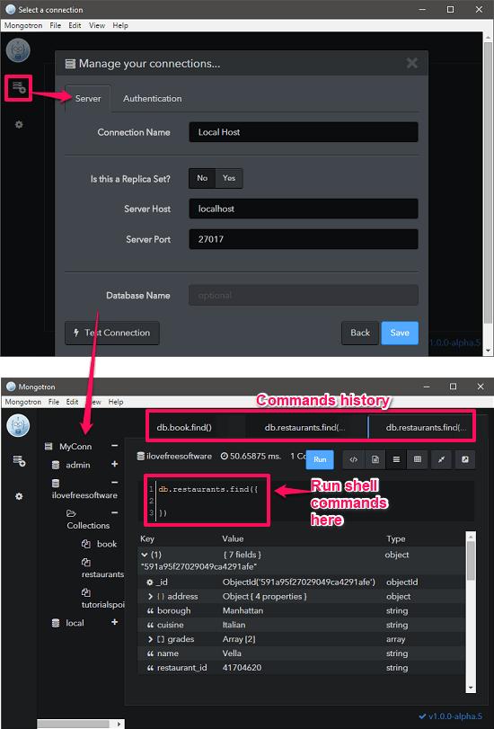 Mongotron mondo db ide for Windows