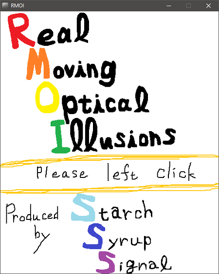 Real Moving Optical Illusions interface