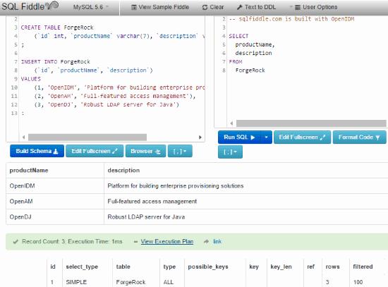 SQL Fiddle: practice sql online