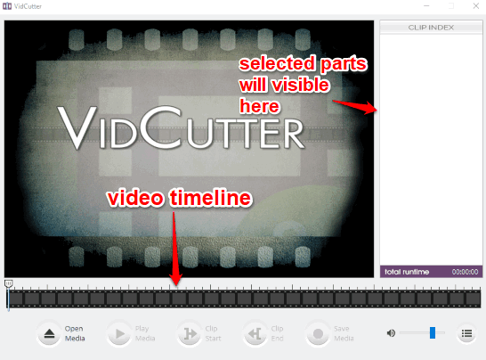 VidCutter- interface