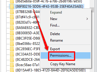 access permissions option