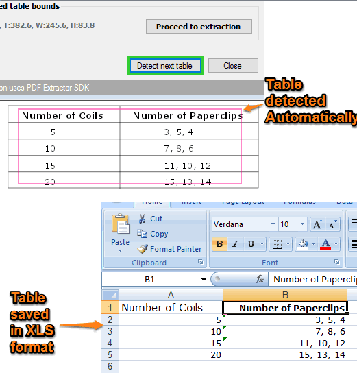 autmatically detect pdf table and save