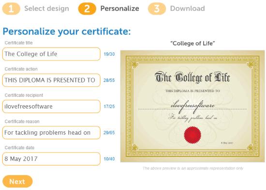certificate magic- online certificate maker