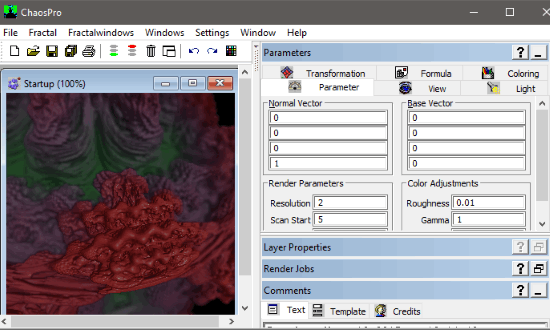 chaosPro- fractal art generator