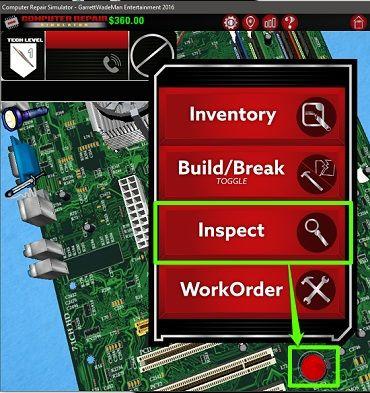 computer repair simulator fault