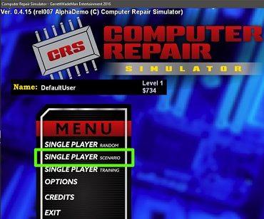 computer repair simulator open