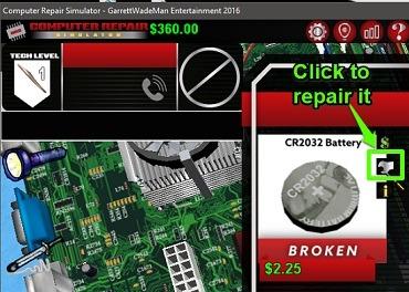 computer repair simulator repair component