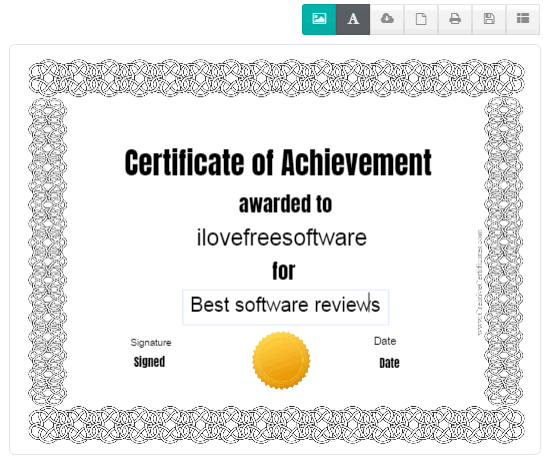 creativecertificates- free online certificate maker